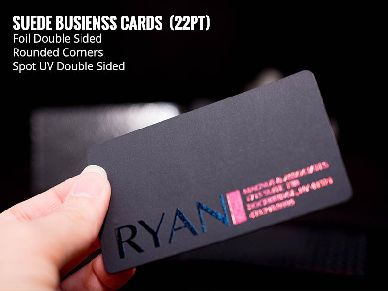Creativechip custom frosted plastic cards suede business cards 22pt colourmoves